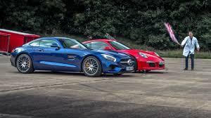 lexus vs mercedes race top gear drag races 2 merc amg gt s vs porsche 911 gts top gear