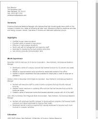 Employment Resume Template Download Employee Relation Manager Resume Haadyaooverbayresort Com