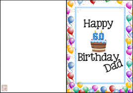 6 best images of free printable birthday cards dad happy