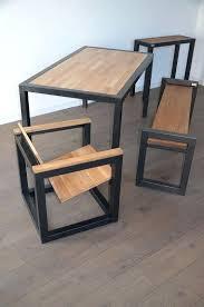 cuisine bois acier meuble bois acier meuble tv acier et bois mediacult pro