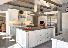White Dove Benjamin Moore Kitchen Cabinets - ranch cottage with transitional coastal interiors home bunch