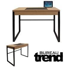 bureau metal et bois bureau industriel trend bois et metal noir noir achat vente