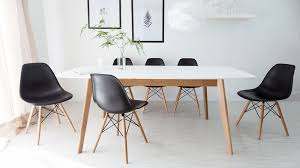 Dining Chairs White Wood Eames Style Dining Chair Dining Room Gregorsnell Eames Style