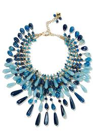 blue fashion necklace images Rosantica antica gold tone multi stone necklace blue women jewelry jpg