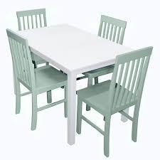 walker edison tw485pcsg greyson 5 piece dining set w white table