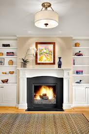 Built In Bookshelves Fireplace by Built In Bookshelves Fireplace Living Room Scandinavian With Knit