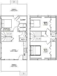 4 Bedroom Tiny House 18x30 Tiny House 18x30h7i 999 Sq Ft Excellent Floor Plans