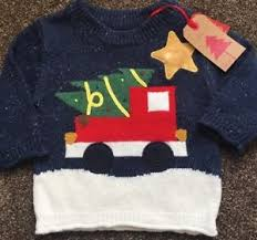christmas tree jumper with lights next baby boys light up christmas tree jumper xmas 6 9 months new ebay