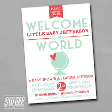 welcome to the world baby shower welcome to the world diy printable baby shower invitation by
