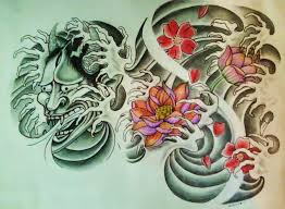hannya mask samurai tattoo hannya mask and lotus tattoo designs real photo pictures images and