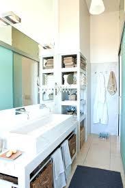 Bathroom Counter Storage Tower Double Vanity With Storage Tower Marvelous Double Vanity With
