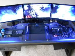 innovative gaming computer desk setup home design ideas inside pc