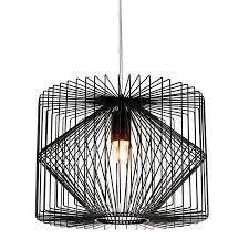Pendelleuchte Esszimmer Design Lux Pro Deckenleuchte Schwarz Metall Pendelleuchte Gitter