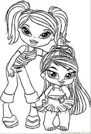 coloring pages glamorous bratz babies coloring pages 9czx6egki