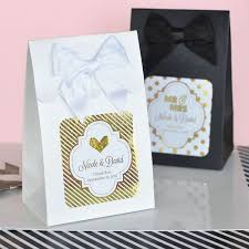 personalized favor boxes metallic foil sweet shoppe wedding candy favor boxes set of 12