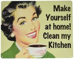 amazon com make yourself at home u2026clean my kitchen tin sign 15 x