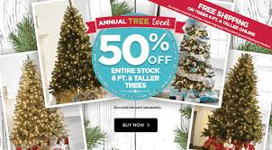 Michaels Christmas Decorations Sale by Michaels 50 Off Christmas Trees Free Shipping U2013 Hip2save