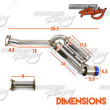 nissan 350z quad tip exhaust fits 03 09 nissan 350z z33 350gt stainless steel dual exhaust