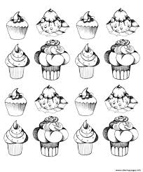 cupcakes oldstyle coloring pages printable