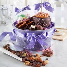 mothers day basket s day chocolate gift basket purple gift basket