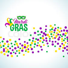 mardi gras picture frame bright abstract dot mardi gras pattern on white background vector
