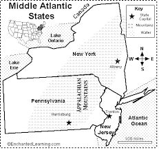us map middle states middle atlantic states map quiz printout enchantedlearning