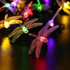 animal solar light dragonfly decoracion string lights 20