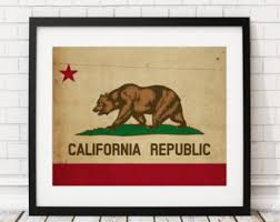 California Gifts California Flag Etsy