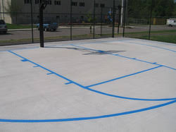 Backyard Sport Court Cost by Sports Tile Or Paint Building A Backyard Multi Sport Game Court