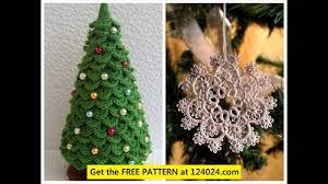 christmas tree crochet pattern youtube