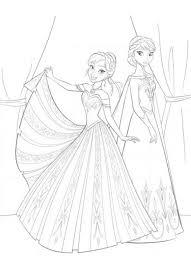 frozen anna elsa sisters frozen coloring coloring