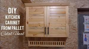 kitchen cabinets from pallet wood paletten mutfak dolabi yapimi kitchen cabinet from pallet how to make a kitchen cabinet