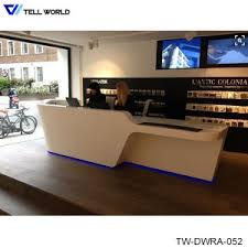 Hairdressing Reception Desk with China Spa Reception Desk In White Vinyl Or Leather High Gloss