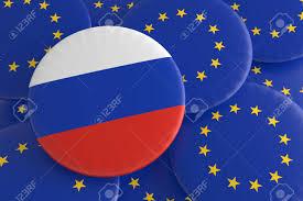 Eussian Flag Partnership Russia Eu Russian Flag And European Union Flag Badges