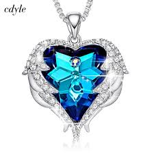 zircon blue necklace images Cdyle crystals from swarovski necklaces zircon fashion jewelry for jpg