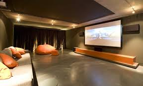Sofa Movie Theater by Living Home Movie Theater Room Design With Chandelier And