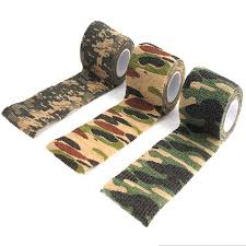 camouflage ribbon 1 roll 5cm wide self adhesive non woven adhesive duct ribbon