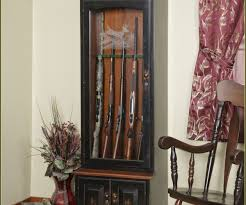 Free Wooden Gun Cabinet Plans Neat Etched Your Home Improvements Refference Oak Guncabinet