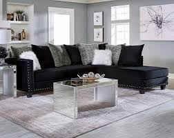 Sectional Sofa Jet Black 2 Pc Sectional Sofa American Freight