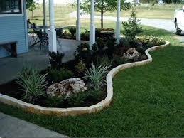 rock flower bed edging stacked borders best garden ideas on border