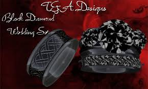 Black Diamond Wedding Ring Sets by Second Life Marketplace Black Diamond Wedding Set Vendor