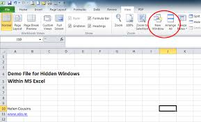 how to fix troubles caused by hidden windows in ms excel