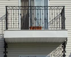 fair wrought iron balcony railings come with black stained wrought
