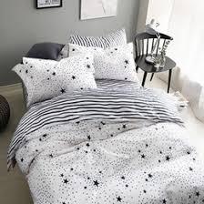 Duvet Cover Stars Black White Star Bedding Suppliers Best Black White Star Bedding