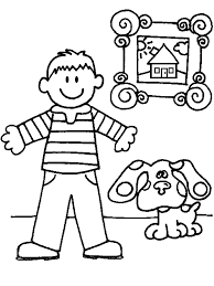 printable blues clues coloring pages coloring