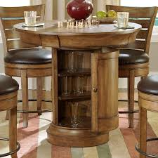 Round Dining Table With Hidden Chairs High Round Pub Table And Chairs Special Round Pub Table And