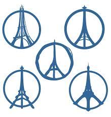 eiffel tower peace sign svg cuttable designs