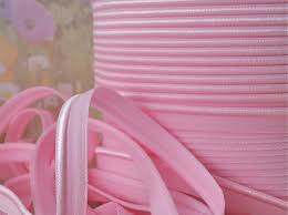 elastic ribbon by the yard 5yds pink elastic ribbon piping trim light pink lip cord