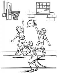 basketball coloring pages coloringsuite