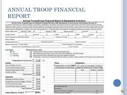 Treasurer Spreadsheet Troop Treasurer